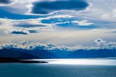 Lago Argentino in Argentijns Patagonië Stock Foto