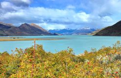 Lago Argentino de Estancia Cristina, Patagonia, la Argentina fotografía de archivo
