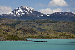 Lago Argentino in Patagonia - Argentina. Lago Argentino in the Andes Mountains of Patagonia in southern Argentina Royalty Free Stock Photo