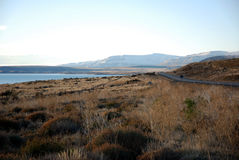 Lago Argentino and road in Patagonia Stock Photos