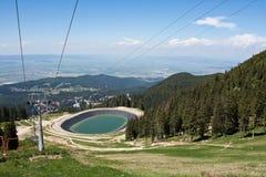 Lago artificial para la nieve artificial Imagenes de archivo