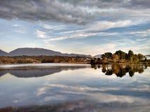 Lago artificial, Tirana, Albânia fotos de stock royalty free