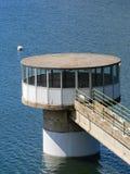 Lago artificial Torre de la toma Fotografía de archivo libre de regalías
