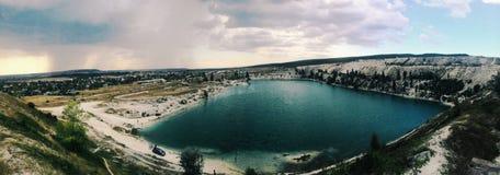 Lago artificiale fotografia stock