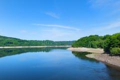 Lago artificiale landscape in Francia Fotografia Stock Libera da Diritti