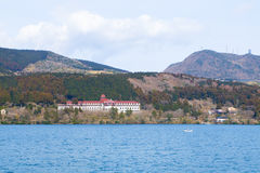 Lago Ashi, Hakone, Giappone fotografie stock