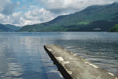 Lago Ashino em Hakone Imagens de Stock Royalty Free
