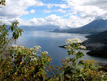 Lago Atitlan, Guatemala Photos stock