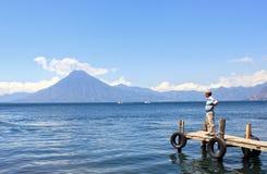 Lago Atitlan. Il Guatemala Fotografie Stock Libere da Diritti
