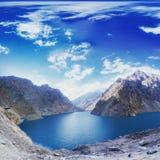 Lago Attabad Fotografia Stock Libera da Diritti