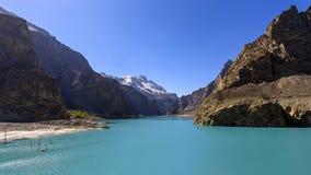 Lago Attabad en Paquistán septentrional foto de archivo libre de regalías