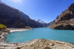 Lago Attabad en Paquistán septentrional imagen de archivo libre de regalías
