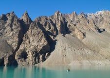 Lago Attabad nella regione nordica del Pakistan Fotografia Stock Libera da Diritti