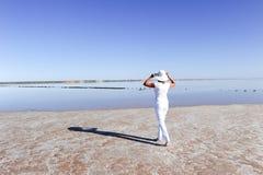 Lago Australia woman outback Immagine Stock Libera da Diritti