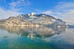 Lago austria Mondsee Fotografie Stock Libere da Diritti