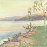 Lago autumn ilustração do vetor