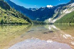 Lago avalanche, parque nacional de geleira imagem de stock royalty free