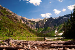 Lago avalanche. Parque nacional de geleira. Montana Imagens de Stock Royalty Free