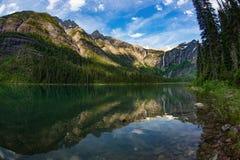 Lago avalanche, parque nacional de geleira, Montana fotos de stock royalty free
