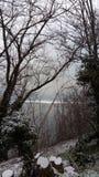 Lago Avigliana foto de archivo