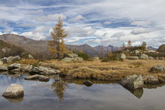 Lago Aviolo Royalty Free Stock Images