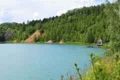 Lago azul Foto de Stock