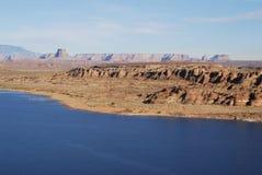 Lago azul brillante Powel, Arizona Fotos de archivo libres de regalías