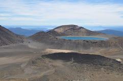 Lago azul, circuito do norte de Tongariro, cruzamento alpino Imagens de Stock