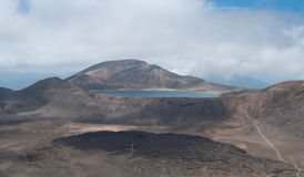 Lago azul Cruzamento de Tongariro Fotografia de Stock