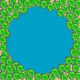 Lago azul em uma floresta verde Imagens de Stock Royalty Free