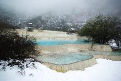 Lago azul en huang de largo fotografía de archivo