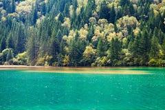 Lago azul en Jiuzhaigou Foto de archivo libre de regalías