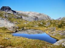 Lago azul en montañas Fotos de archivo libres de regalías