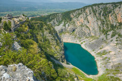 Lago azul Imotski Croacia Foto de archivo libre de regalías