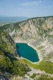 Lago azul Imotski Croacia Fotos de archivo