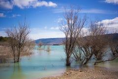 Lago azul na Espanha Foto de Stock Royalty Free