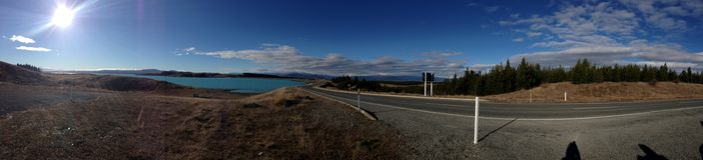 Lago azul Pukaki Fotografía de archivo