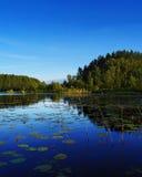 Lago in azzurro Fotografia Stock