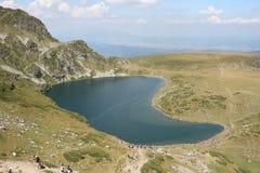 Lago Babreka Rila Fotografia Stock