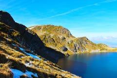 Lago Babreka - um dos sete lagos Rila Imagens de Stock Royalty Free