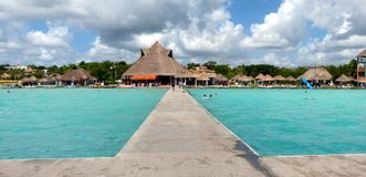 Lago Bacalar México foto de stock