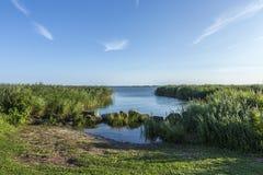 Lago backwater em Zempin, Usedom imagens de stock