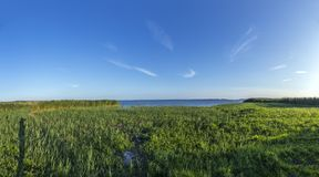 Lago backwater em Zempin, Usedom fotos de stock