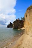 Lago Baikal Árbol en campo Imagenes de archivo