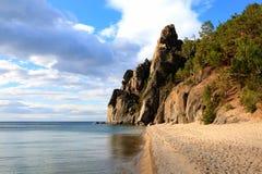 Lago Baikal Árvore no campo Fotografia de Stock