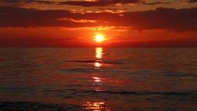 Lago Baikal al tramonto video d archivio