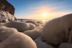 Lago Baikal congelado Foto de archivo libre de regalías