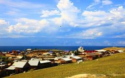Lago Baikal. Console de Olkhon. Estabelecimento de Khuzhir. fotografia de stock royalty free