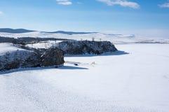 Lago Baikal en invierno Fotos de archivo