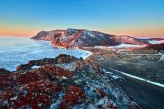 Lago Baikal en invierno fotografía de archivo